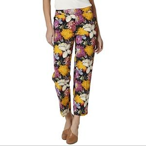 Anthropologie Elevenses Floral Tropica Style Pants